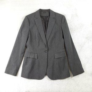 Express One Button Gray Suit Jacket Blazer 10